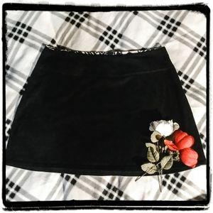 Patagonia black organic cotton mini skirt